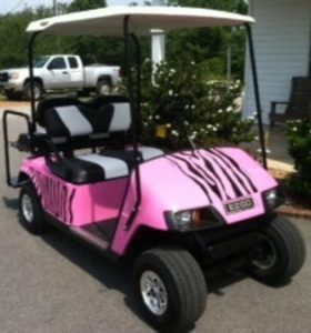Pink Golf cart repair