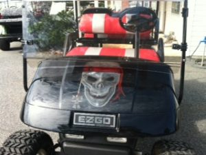 Skeleton golf car repair